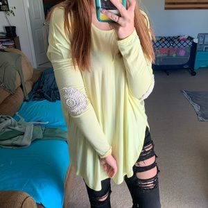 Lace Elbow Top